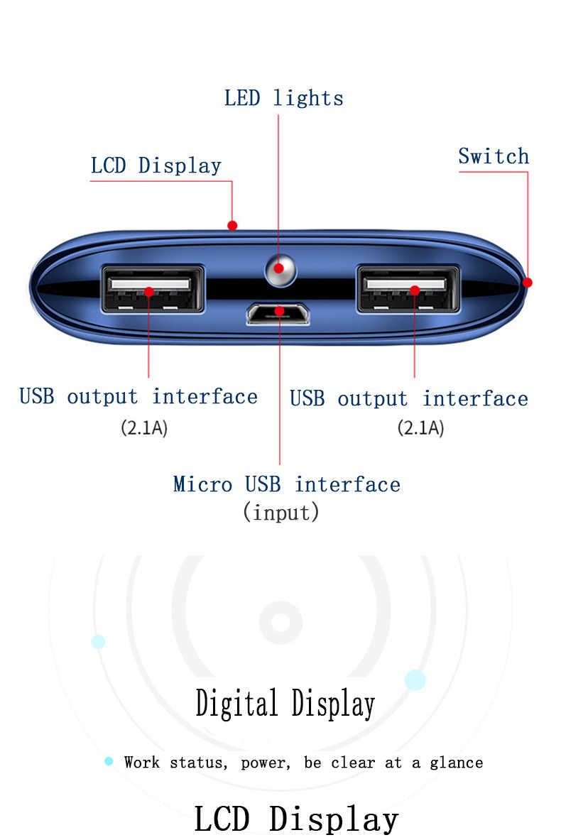 30000mah قوة البنك بطارية خارجية PoverBank USB LED تجدد Powerbank المحمولة الهاتف المحمول شاحن هواتف xiaomi سامسونج iphone XS