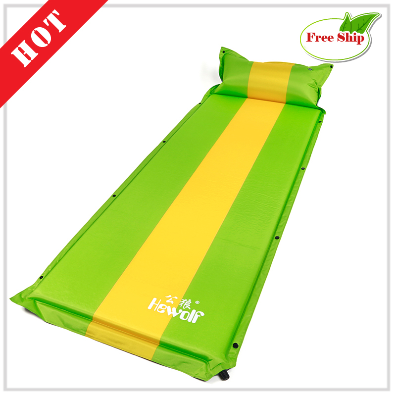 Free ship Beach inflatable mattress mat nature hike camping mats travel Tourism sand free mats air bed Picnic sleeping pad EC07 durable thicken pvc car travel inflatable bed automotive air mattress camping mat with air pump
