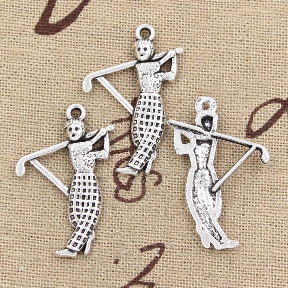 15pcs Charms golf golfer sporter 31*20mm Antique Silver Plated Pendants Making DIY Handmade Tibetan Silver Jewelry
