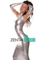 Freies verschiffen dhl sexy fancy dress erwachsene silber lange handschuhe body metallic look zentai dress anzug für halloween-party