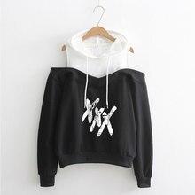 LUCKYFRIDAYF XXXTentacion Member Women Long Sleeve Hoodies Sweatshirts Off-Shoulder Exclusive New Album Hooded Clothes
