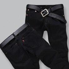 Heißer Verkauf 2017 Neue Ankunft Männer Jeans, Retail & Großhandel Dünne Gerade Hosen Schwarz Farbe Marke Baumwolle Jeans Männer, A33055
