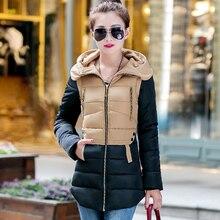Women'S Hooded Cotton-Padded Jacket Winter Medium-Long Cotton Coat Plus Size Down Jacket Female Slim Ladies Jackets Coats WT0015