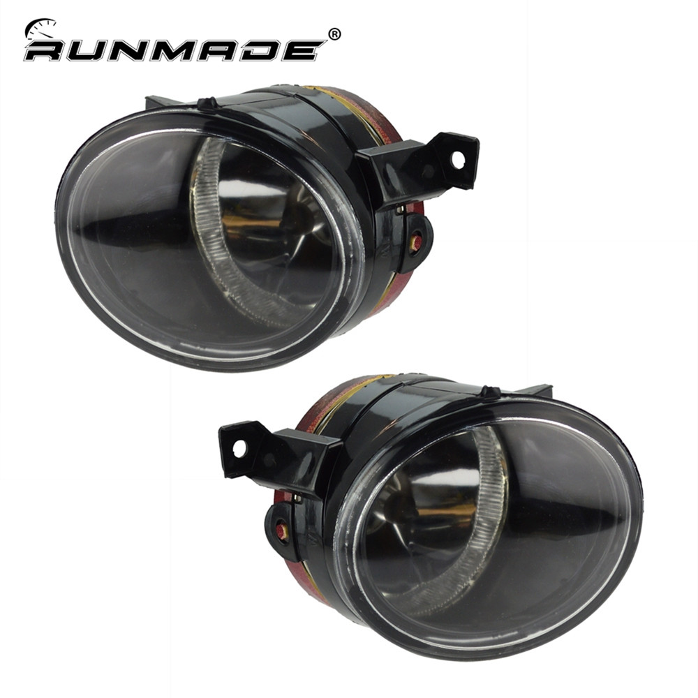 runmade 1Pair For VW Jetta Mk5 Fog Light GTi Bora Front Bumper Driving Lamp With H11 12V 55W Bulbs Left & Right Side high bright led light source 200w lamp beads projection projector light source chip led lighting beads 150 160lm w led epistar