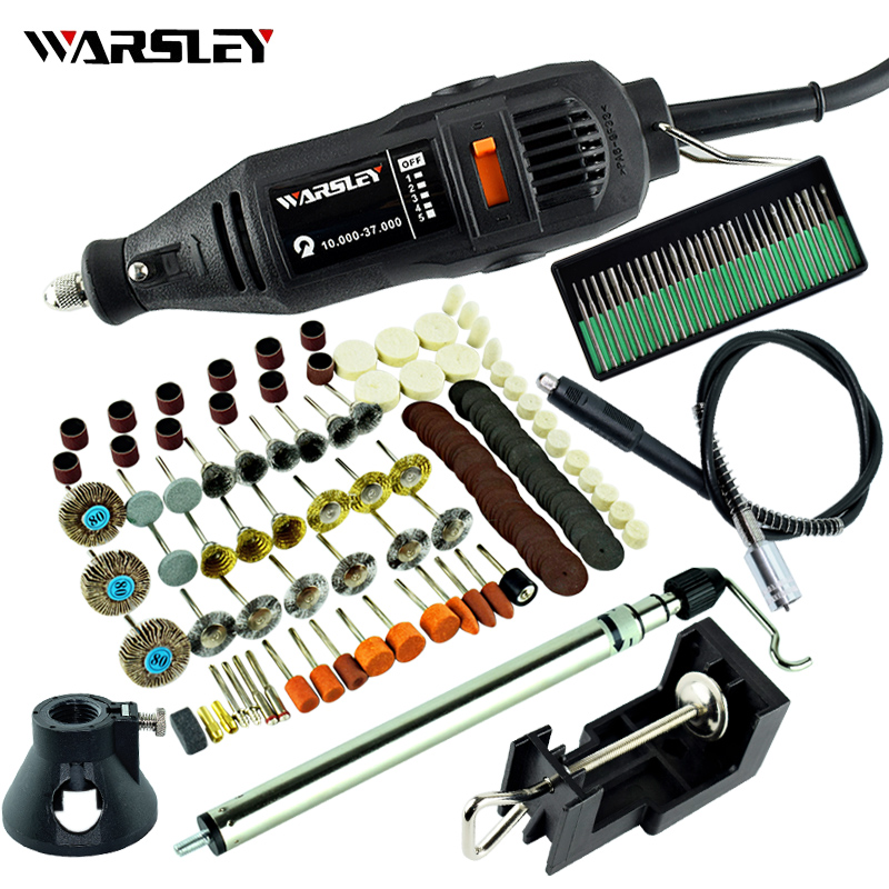 Mini Drill Dremel Engraving Pen Electric Drill Grinder Engrave Variable Speed With Shaft DIY Kits Power Tool + Holder Hanger
