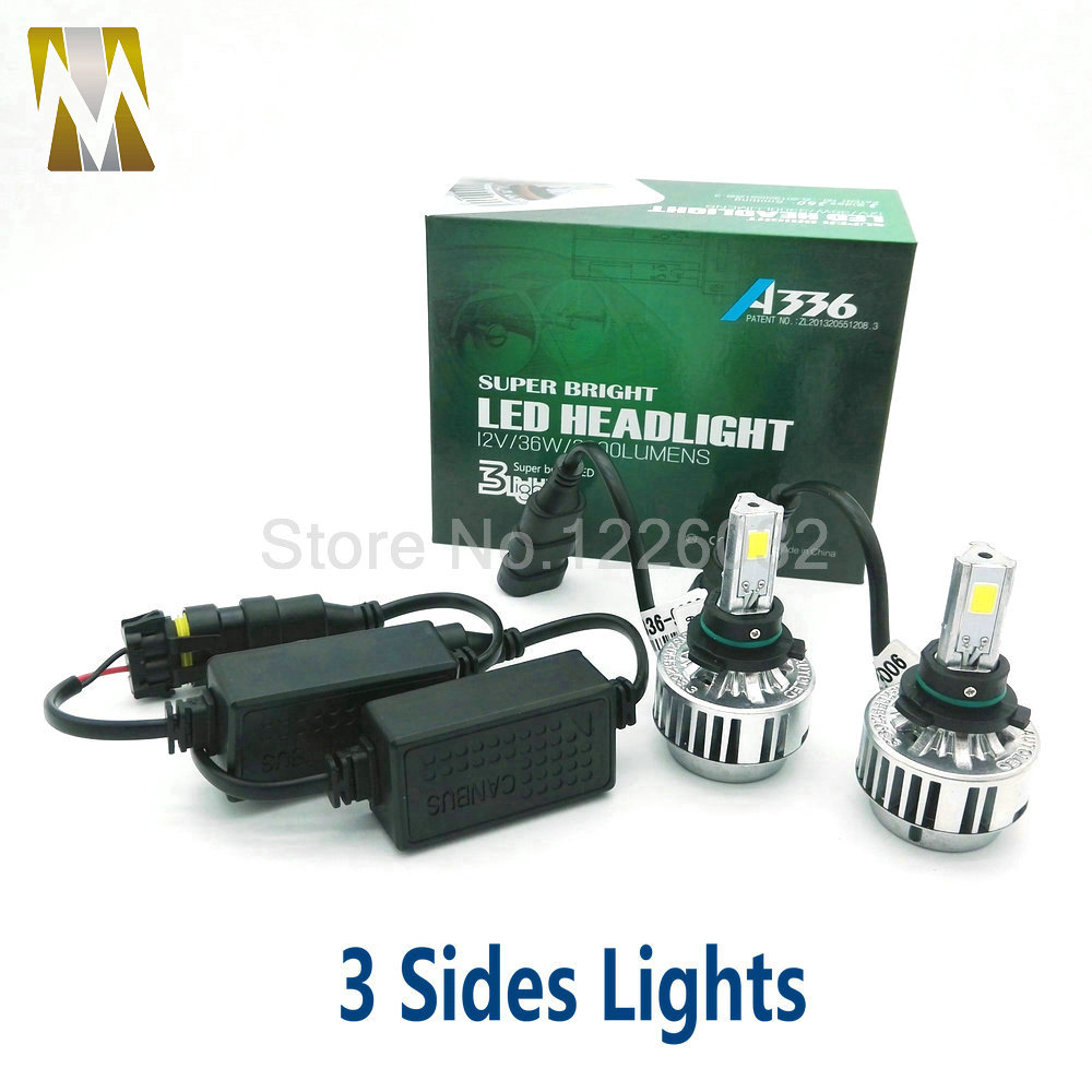 3 Sides Canbus Car Headlamps 9006 HB4 LED Headlights Error Free  36W  Xenon Lamps 6000k 3000k White Yellow H7 H8 H1 9005 HB3 H10 карандаш для глаз absolute new york perfect wear eye liner 20 цвет 20 bourbon variant hex name 643d2c