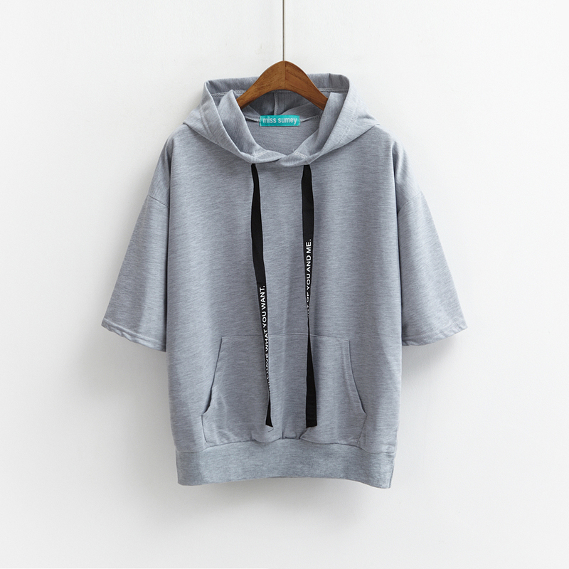 Thin pullover hoodie