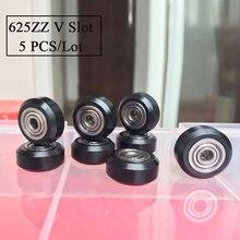 625zz v-slot wheel 3d Printer ball Bearing CNC openbuilds D-type V-type Wheel 625ZZ v slot Bearing 3d printer parts Prusa I3 Kit