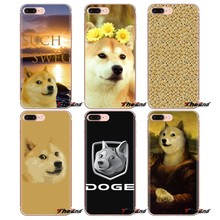 Happy Doge With It Kawaii Collage Transparent TPU Cover Bag For Xiaomi Redmi 4A S2 Note 3 3S 4 4X 5 Plus 6 7 6A Pro Pocophone F1(China)