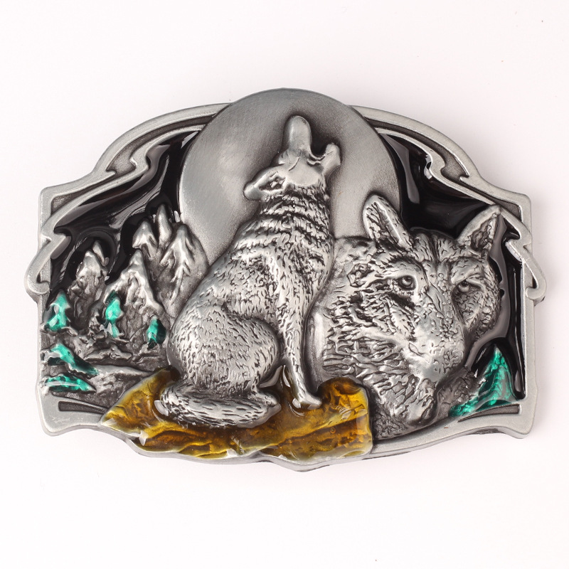 Wolves Howl Personality Cowboy Buckle