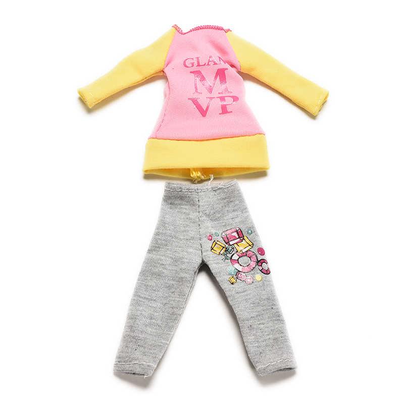 2 шт./компл. хит продаж Новинка весна осень кофта и штаны для кукол модные повседневные аксессуары для кукольной одежды