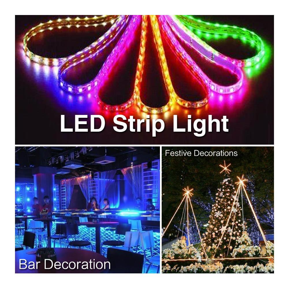 Tsleen светодиодные полосы Водонепроницаемый 1 м/60 светодиодов DC 12 В 5050 SMD Красочные RGB гибкие света супер яркий рождество украшения дома света