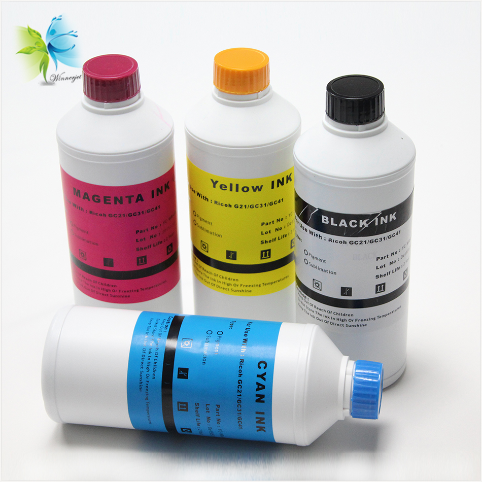 water transfer printing sublimation gel ink  compatible for ricoh gc31 disposable and refillable cartridges