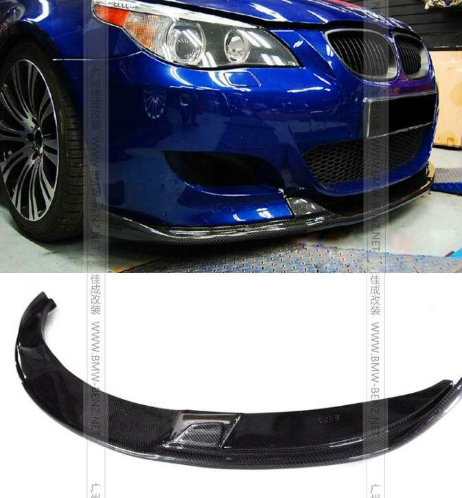 Fiber de carbone avant lip spoiler H style Pare-chocs Avant pour BMW E60 M5 pare-chocs De Voiture styling Accessoires accessoires usine vente
