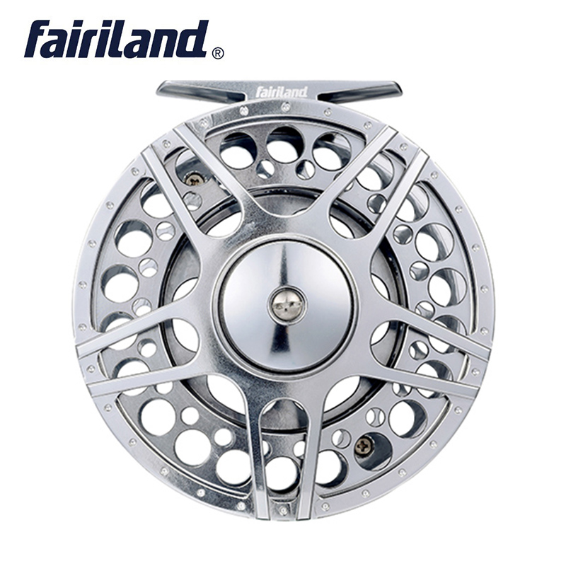 Brave 70 80 90 100mm 3bb Fly Fishing Reel Cnc Machined Aluminum Fly Reel 1/2 3/4 5/6 7/8 W/ Incoming Click L/r Hand Interchangeable