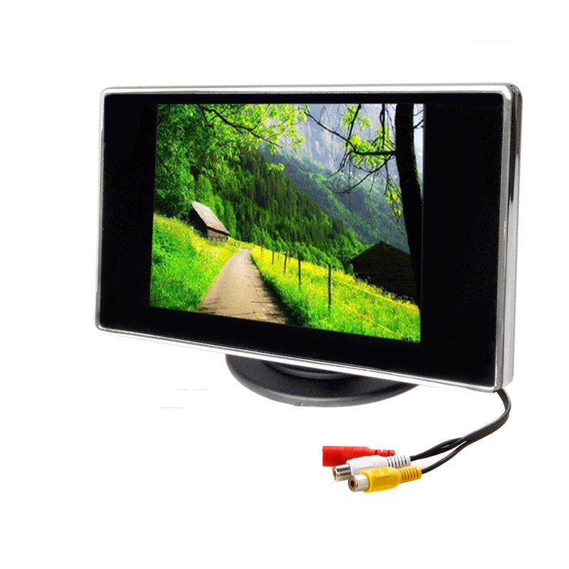 3.5 Inch Car Monitor TFT LCD 320*240 Color 4:3 Screen 2 Way Video Input For Rear View Backup Reverse Camera DVD VCD DC 12V