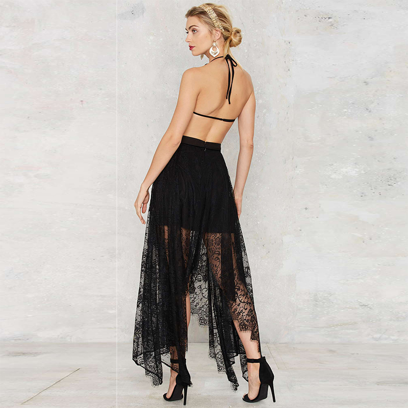 Aliexpress.com : Buy Exclusive Women Black Mesh See Through Boho ...