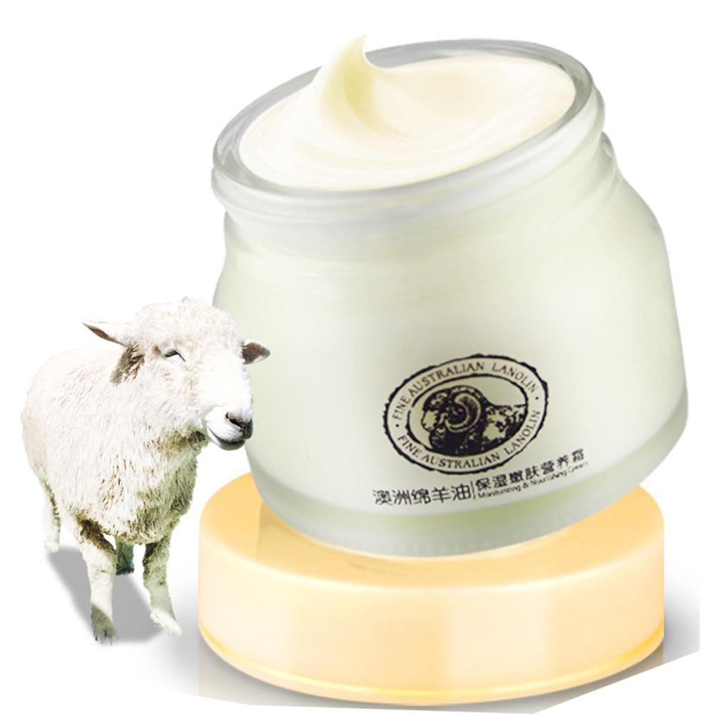 Australien Schafe Öl Lanolin Nähren Gesicht Creme Kollagen Beruhigende Feuchtigkeitsspendende Aufhellung Anti-Aging Creme Hautpflege