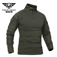 Brand Tees Men Camouflage Army T Shirts Men T Shirts Soldiers Combat Tactical T Shirt Military Multicam Camo Long Sleeve Cotton