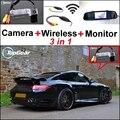3 in1 Especial Câmera de Visão Traseira Sem Fio + Receptor + Espelho Monitor de DIY Sistema De Estacionamento Para Porsche 993 996 Carrera 911 1989 ~ 2005