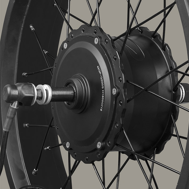snow bicycle hub motor, spoke motor