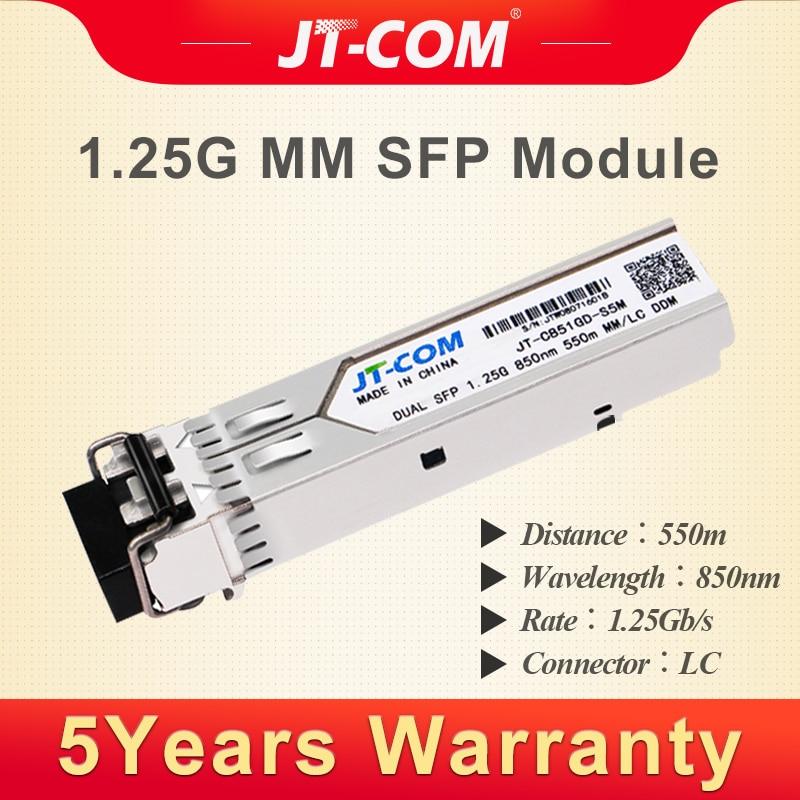 1g 850nm 550 m SFP Modulo Transceiver 2 LC Gigabit Multimode Duplex Fibra Ottica Compatibile con Cisco/Mikrotik interruttore DDM DUAL