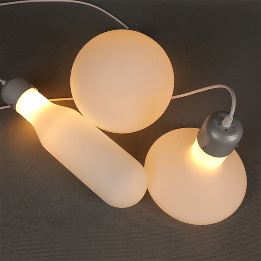 Can You Visit Industrial Light And Magic: Nordic Creative White Bottle Led Pendent Light,Novelty