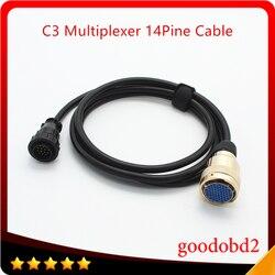 Auto kabel diagnostyczny dla Benz MB gwiazdy C3 14PIN kabel do C3 multiplekser akcesoria Adapter kabel