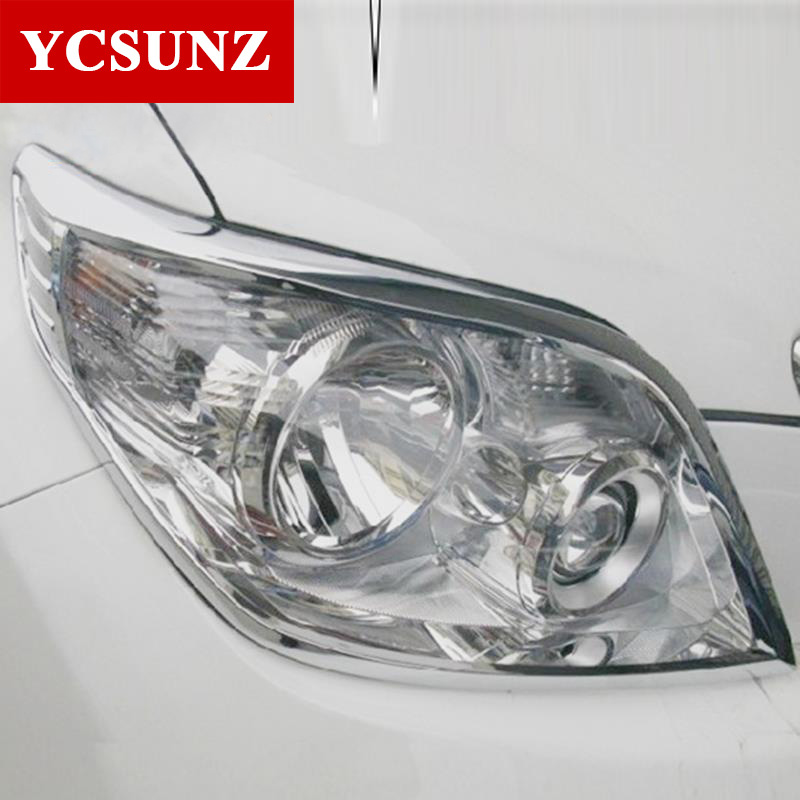 2010 For Toyota Land Cruiser Prado 150 Accessories Headlight Cover Trim For Toyota Land Cruiser Prado 150 2011 2012 2013 Ycsunz