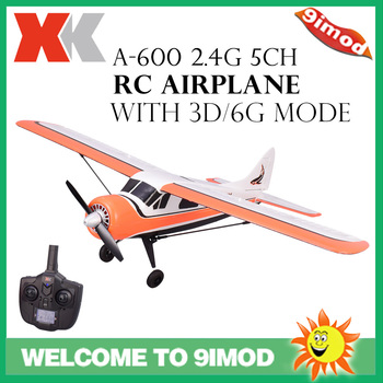 Wltoys XK DHC-2 A600 5CH 2.4G Brushless Motor 3D6G RC Airplane 6 Axis Glider Remote Control Aircraft Toy kids Birthday gift