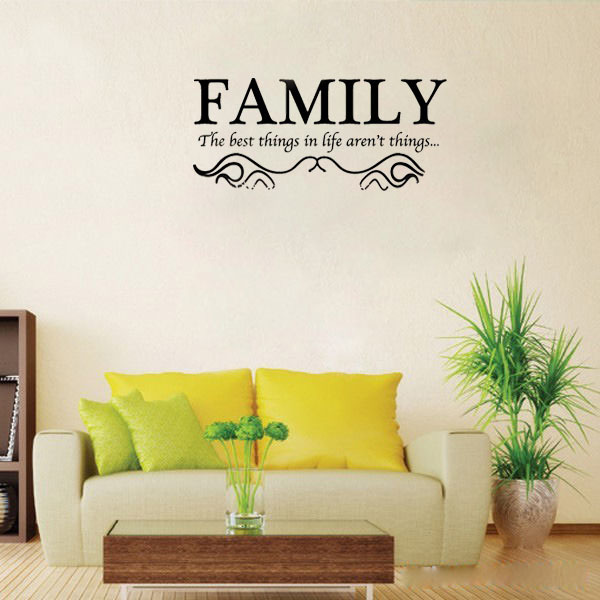 Family The Best Things In Life ArenT Things Wall Decals Vinyl - Cool custom vinyl decals for carsdecalfxcom thebest wall decals for your home custom vinyl
