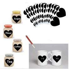Tile & Sticker 72pcs Heart Shaped Chalkboard Labels Gift 1 White Liquid Chalk Marker
