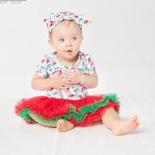 Детские Обувь для девочек красный, зеленый лампа Вышивка Крестом Картины Рождественское платье-пачка 2 шт. комплект для маленьких девочек рождественское платье повязка для 24 месяцев