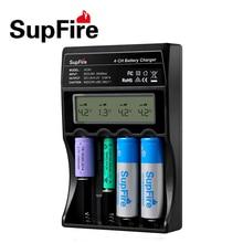 SupFire AC40 интеллектуальный цифровой 4 слота Зарядное устройство совместимо Li-Ion NiCd NiMH Батарея ЕС США адаптер для 26650/18650/ 14500 Батарея