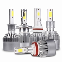 MALUOKASA 6000 6500K H4 H7 H13 H11 H1 9005 9006 COB LED Headlight 72W Car LED