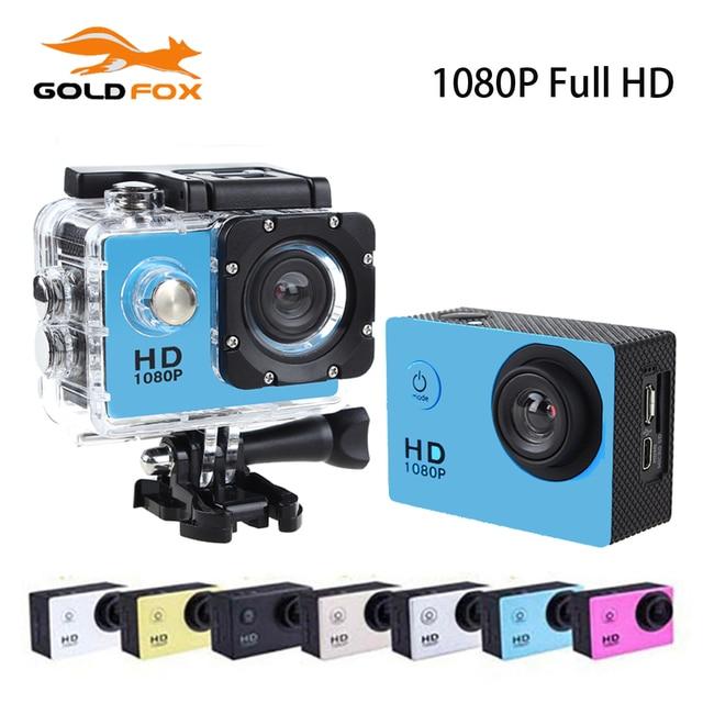 Goldfox 1080P Full HD No Wifi Mini Camera 170 Degree 30M Waterproof Sport Dv Bike Helmet Cam With Retail Box Monopod Wholesale