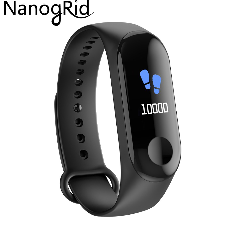Smart Fitness Bracelet Color screen IP67 Waterproof blood pressure Oxygen Monitor sports Heart Rate Smart band pk mi band 3 smart watch m19 heart rate fitness bracelet sleep monitor smart tracker blood pressure smart band color screen band pk mi band 3