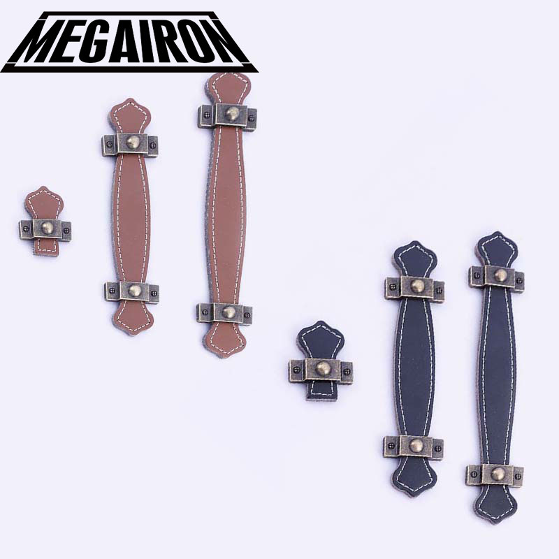 MEGAIRON Modern Leather Drawer Handles Cabinet Door Knobs Simple Kitchen Cupboard Pull Dresser Handles Furniture Hardware Knobs 128mm modern simple black kitchen cabinet wardrobe door handle pull black drawer dresser cupboard furniture handles knobs 5