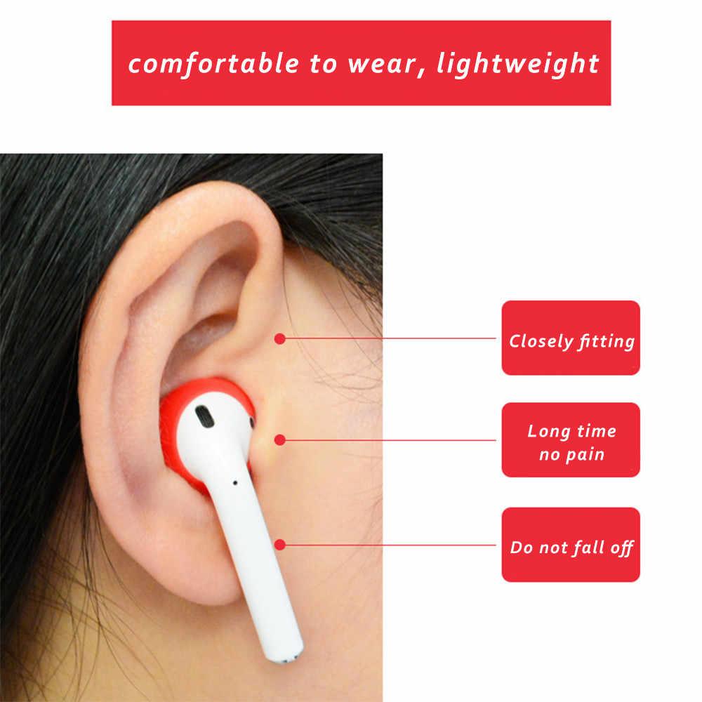 1 para kolorowe, odporna na wstrząsy miękkie silikonowe wkładki douszne przypadku słuchawki wymiana zatyczki do uszu Protector Case do zestawu słuchawkowego do Apple AirPods