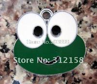 100Pcs/Lots Alloy Metal Frog charms connector enamel charms key charms 26x24.5mm bead bead