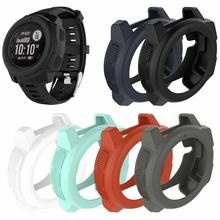 6 Colors Silicone Protective Case Anti-fall Waterproof Watch Protector For Garmin Instinct Sports Smart Watch soft silicone protective case for garmin instinct smart watch dial protection transparent watch case for garmin instinct watch