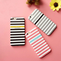 Navy Style cross stripe horizontal stripes Phone Case For iPhone 7 7plus 6s 6 6Plus Back Cover Soft TPU Silicon Funda Cases