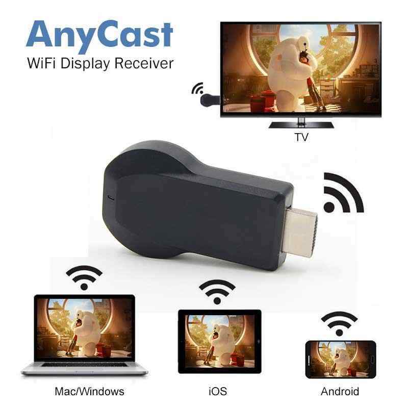 TV stick DLNA Miracast airplay Mirroring dongle dla iphone ipad smartfonów z systemem android bezprzewodowy WiFi tworzenie kopii lustrzanych urządzenia z ekranem otrzymasz