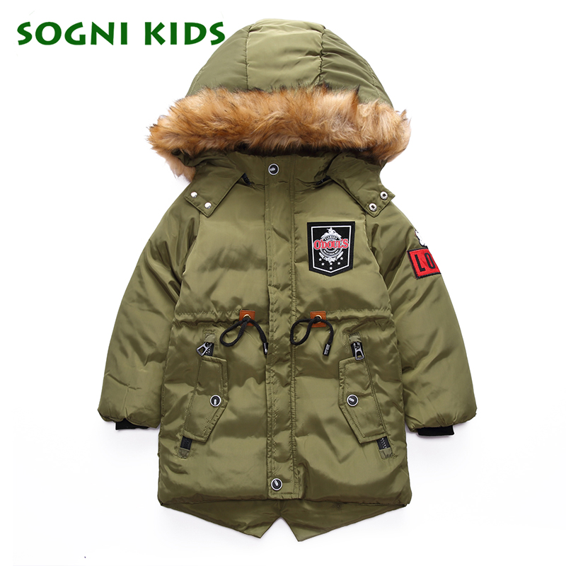Teens Boys Girls Coat Parkas Outerwear Warm Hooded Fashion Solid Kids Jacket Winter Clothes For Children Kid Clothing все цены