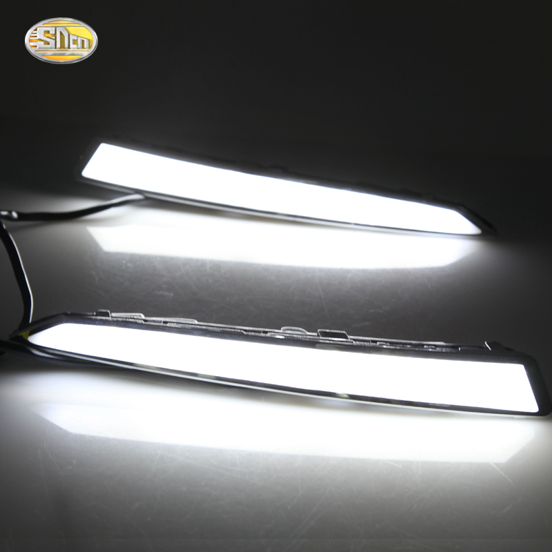 SNCN LED Daytime Running Lights for Ford Kuga Escape 2013 2014 2015 2016 Eyelids DRL fog lamp bumper lamp turn off and dimming style relay led car drl daytime running lights for ford kuga 2012 2013 2014 2015 with fog lamp