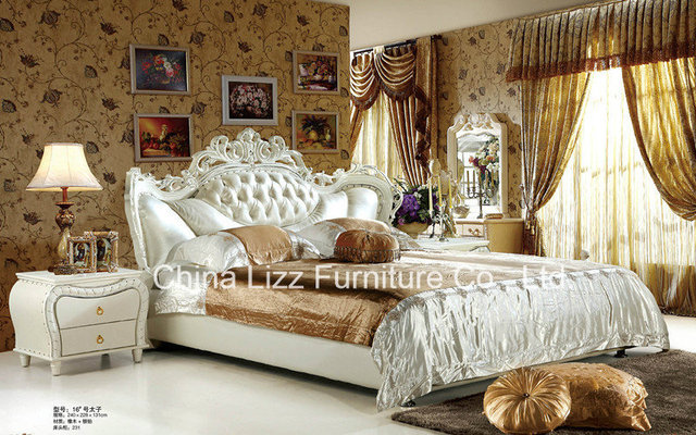 Lizz Leather King Size Upholstered Bed.Let This Plush And Elegant Modern  Upholstered Bed Carry You Off To Sleep.