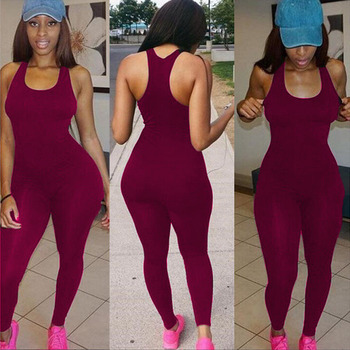2018 Backless Slim Rompers Sexy Women leggings Jumpsuits  Fitness Set One Piece Jumpsuit fashion designer 5