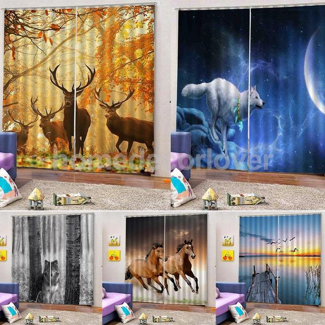 2 Panels Blackout Curtains Panel Window Bath Drape Thermal Darkening Waterproof