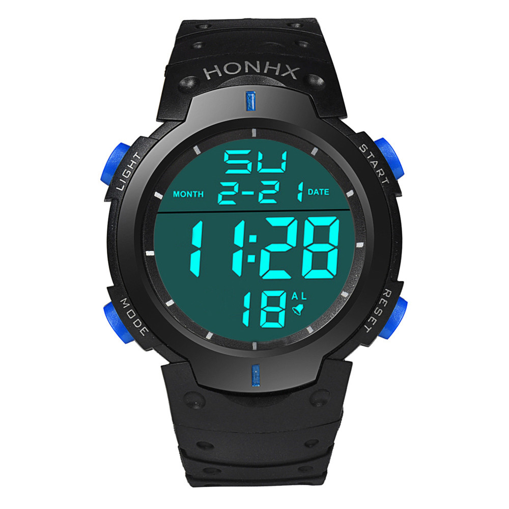 Digital Watch Men Women Relogio Sport Waterproof Men's Boy LCD Digital Stopwatch Date Rubber Sports Wrist Watch