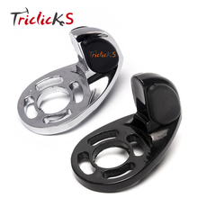 Triclicks Motorcycle Throttle Wrist Rubber Pad Rest Cruise Assist CNC Hand Grips Control For ISO-Grips ISO-Flame